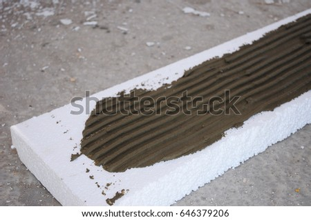 Foam concrete stock images royalty free images vectors for Insulated concrete foam