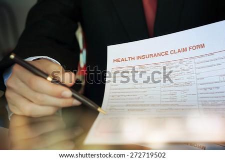 insurance claim form - stock photo