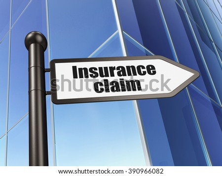 Insurance concept: sign Insurance Claim on Building background - stock photo