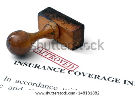 Insurance coverage - approved - stock photo