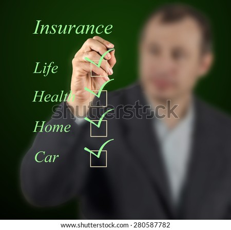 Insurance list - stock photo
