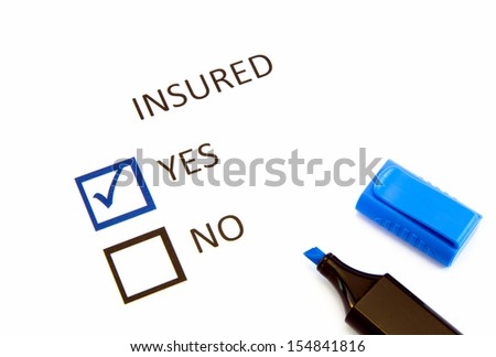 Insurance or risk business concept - stock photo