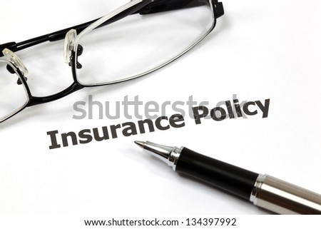 insurance policy - stock photo