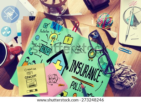 Insurance Policy Help Legal Care Trust Protection Protection Concept - stock photo