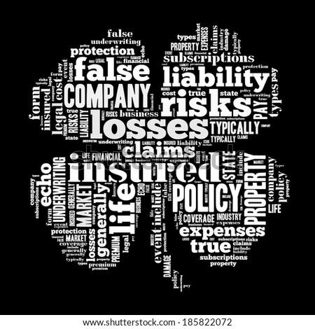 insurance word cloud conceptual image - stock photo
