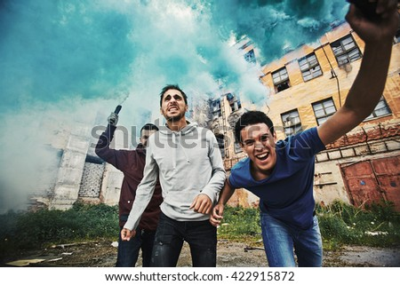 Insurrection - stock photo