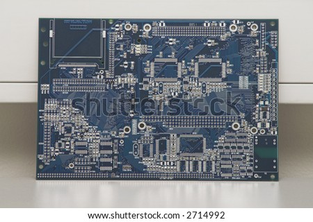 Integrated Circuit - against a wall in a facility. - stock photo