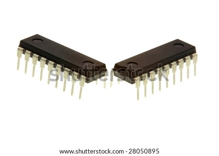 Integrated circuit chip - stock photo