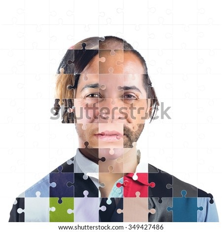 Integration between different ethnic groups and languages - stock photo
