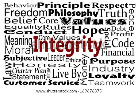 integrity honesty concept word collage stock illustration integrity and honesty concept word collage