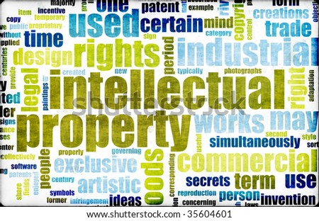 Intellectual Property Concept Word Cloud as Art - stock photo