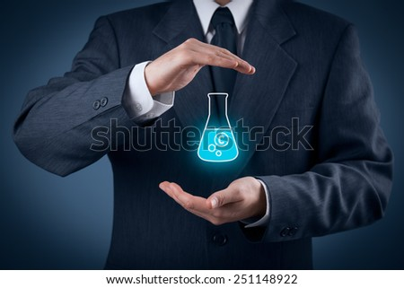 Intellectual property protection law and rights, copyright and patents concept. Protect business ideas and headhunter concepts. - stock photo