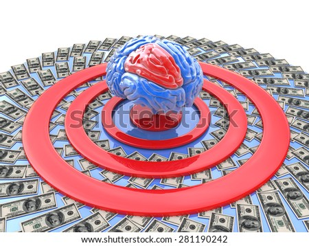 intellectually-financial goal  - stock photo