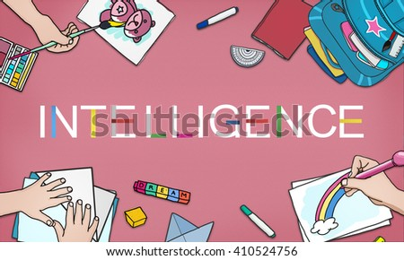 Intelligence Bright Smart Genius Insight Skilled Concept - stock photo