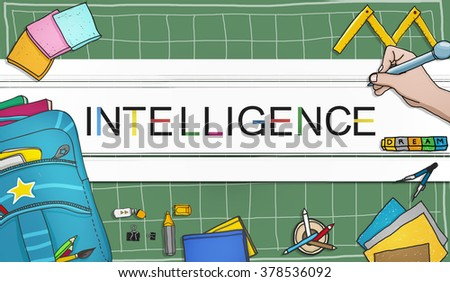 Intelligence Inteligent Smart Genius Insight Skilled Concept - stock photo