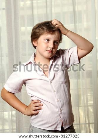 Intelligent boy - stock photo