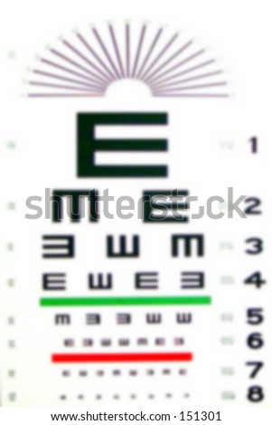 Intended- blurry eye chart - stock photo