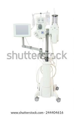 intensive care unit isolated under the white background - stock photo