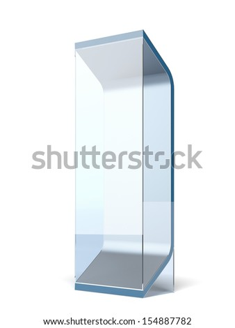 Interactive glass stand - stock photo