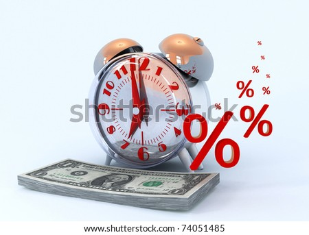 Interest income from business. Money. Dollars. - stock photo