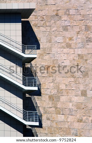 Interesting Architecture of a Modern Building In Los Angeles - stock photo
