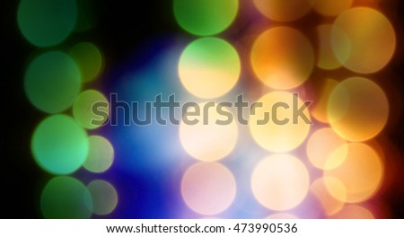 Interesting colorful bokeh background