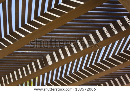 Interesting shadows and shapes - stock photo
