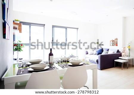 interior apartments view - stock photo