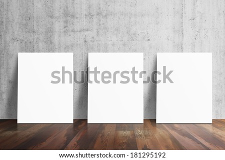 Interior background with paper - stock photo