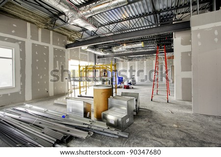 interior construction site - stock photo