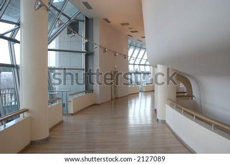 interior corridor - stock photo