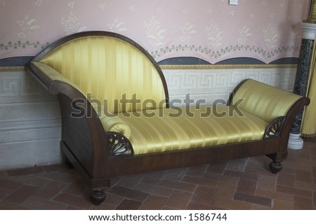 interior couch - stock photo