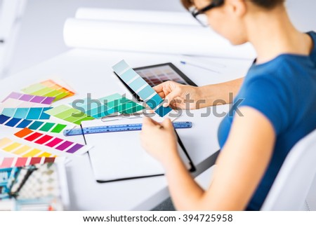 Interior Design Renovation Concept Interior Design Renovation Concept Woman Working Stock Photo .