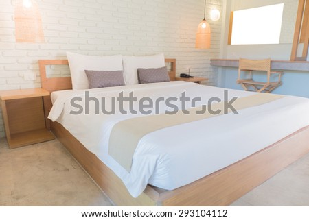 Interior Design: Bedroom - stock photo