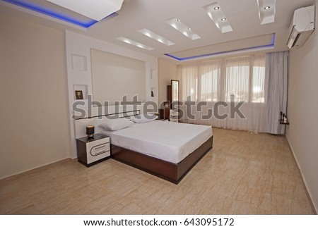 Interior design decor furnishing of luxury show home bedroom with furniture. Bedroom Furniture Stock Images  Royalty Free Images   Vectors