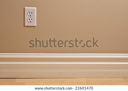 Interior design detail wall power outlet. Hydro power consumption.