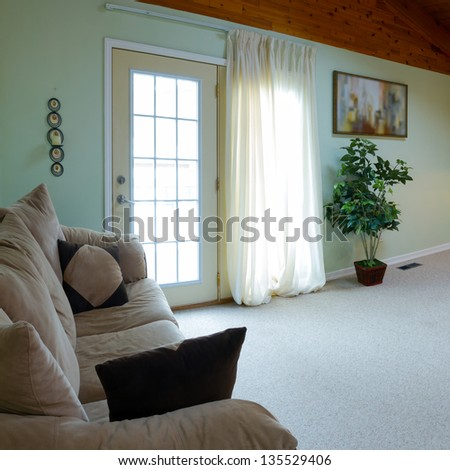 Interior design in a new house - stock photo