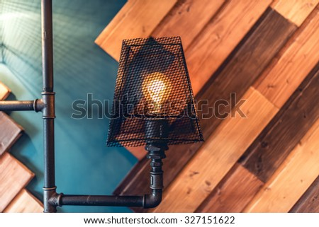 interior design lamps, living room space with walls and details. modern architecture and design - stock photo