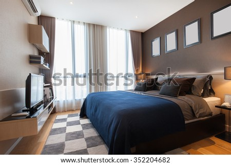 Interior design modern Bedroom - stock photo