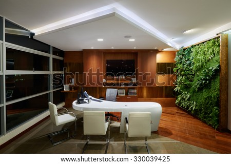 interior design modern elegant office stock photo 330039425