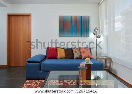Interior design: Modern living room / Suite - stock photo