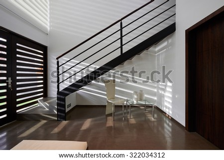 Interior design: Modern loft - stock photo