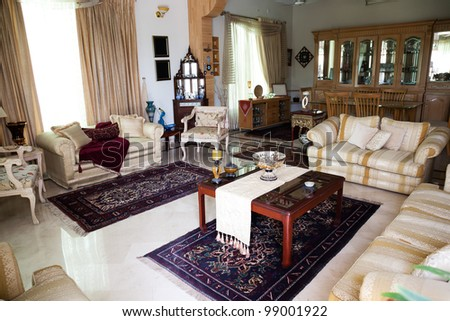 interior design of a sitting room - stock photo