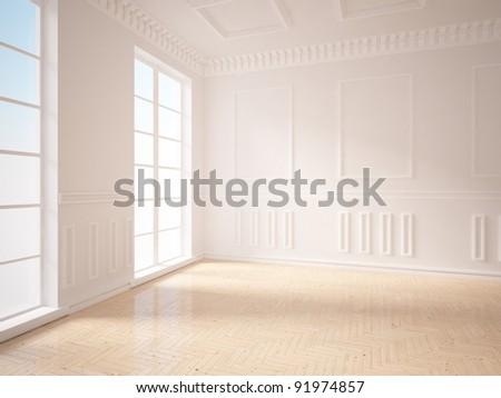 interior design of classic - stock photo