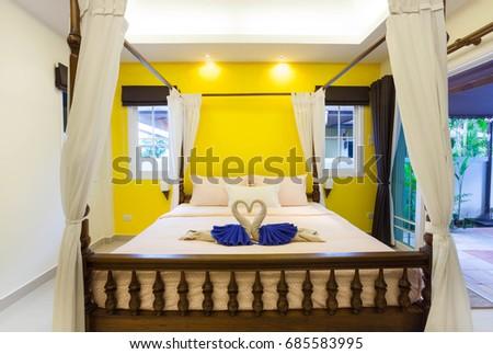 Interior Design Master Bedroom Luxury Cozy Stock Photo (100% Legal ...