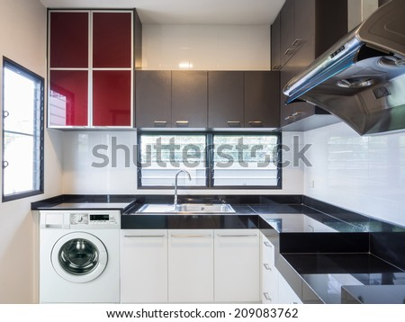 Interior design of modern kitchen - stock photo