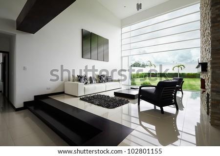 Fußboden Braun Series ~ Interior design series modern living room stockfoto