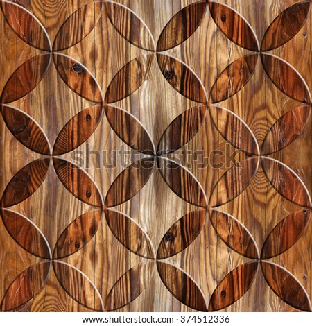 Abstract Paneling Pattern Seamless Background Interior Stock
