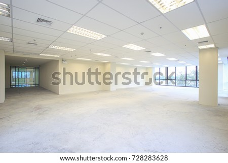 Interior Empty Office Light Room White Stockfoto (Lizenzfrei ...