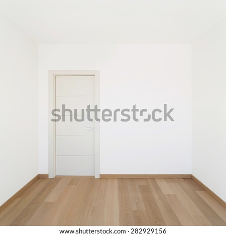 Interior, empty room of a modern house, copy space - stock photo